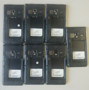 Lot 7x LG VS870 (6) AS870 (1) ~ Black (Verizon) 4G LTE ~ FOR PARTS - AS IS