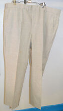 Vintage Beige Plaid Golf Pants Retro Everyday 1970s Flat Front Four Pockets
