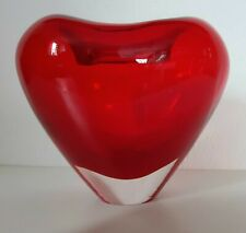 Herz Muranovase - Vintage red - 50/60er Jahre, Sommerso Italy