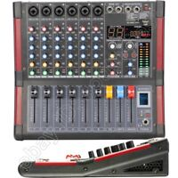 Pro 6 Channel Stage Studio Performance Mixer Sound Mixing Console Bluetooth 48V