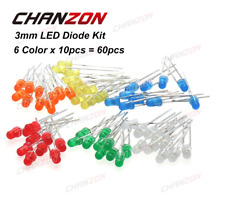 3mm Diffused Light-Emitting Diode LED White Red Green Blue Yellow Orange 20mA 3V