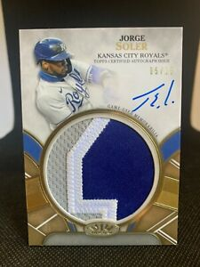 2021 Topps Tier One JORGE SOLER Prodigious Game Used Patch Autograph /10 KC Auto