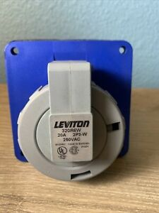 NEW Leviton 320R6W Pin & Sleeve Receptacle 20 Amp 250VAC 2 Pole 3 Wire