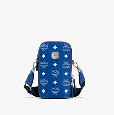 $575 MCM N/S Crossbody Camera Bag in Visetos Original Blue White MWRASVI02H1001
