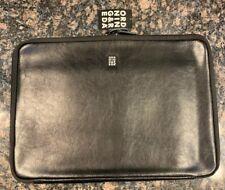 "Ordning & Reda Black Leather Quilted Apple MacBook 15"" Sleeve 11"" x 15.5"" $120"
