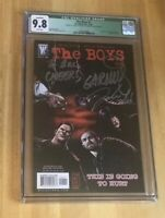 The Boys #1 CGC 9.8 #2 9.6 #3 9.6 Comic Lot - All signed Ennis Robertson AUTO