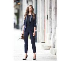 Navy Office Uniform Designs Women Business Suits Female Trouser Suits Blazer Set