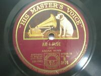 "ANONA WINN B 3174 ENGLAND RARE 78 RPM RECORD 10"" RED VG+"