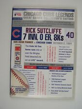 Chicago Cubs Legends: Great Games Rick Sutcliffe Oct 2 1984