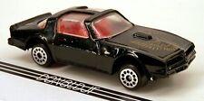 Zee Toys 1977-1978 Pontiac Firebird T-Tops Black (Dot Wheels) #D93 1/64 Scale