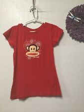 Girl's knit top size 6X cap sleeves monkey face graphic Paul Frank 72