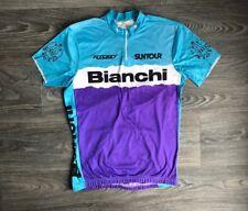Bianchi 80s Cycling Jersey Vtg Racing Bike Bicycle Shirt Race Suntour DIY S Tee