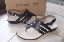 BRAND NEW WOMENS COLORADO LEATHER SHOES  SANDAL SZ 10  BLACK    last pair