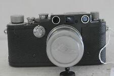 """Leica III-C Grey """"K"""" Rangefinder 35mm Film Camera with Summitar 50 F2 Lens, Cap"""