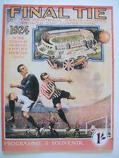1924 FA Cup final programme,Ticket & free teamsheet Aston Villa v Newcastle Utd.