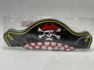 Pirate Captain Party Hats (12 Pack) New