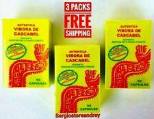 (3 Packs) Vibora De Cascabel 150 Capsules Rattlesnake Acne Varices Exp 04/2021