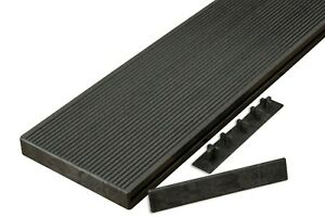 WPC Composite Hollow Decking Board End Cap Trim for use with Composite Decking