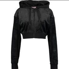 Black juicy Couture Sport Embossed JC Hoodie / Tracksuit Top