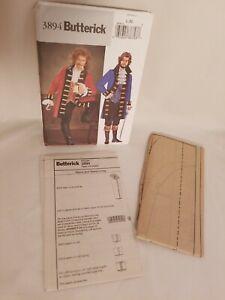 SEWING PATTERN Captain Hook Costume Butterick Pirate Ruffle Shirt L XL 3894