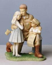 ENESCO FOUNDATIONS SOLDIER COMING HOME TO FAMILY CHILDREN FIGURINE  - NIB 33864