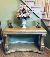Schnadig Wooden Carved Console/Sofa Table