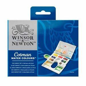 Winsor & Newton Cotman Watercolors The Compact Set - 14 Half Pans