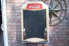 Rare Coca-Cola Easel Back Cardboard Menu Board with Double Bottles !!