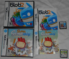 Super Scribblenauts & De Blob 2 Nintendo DS Games Complete In Box