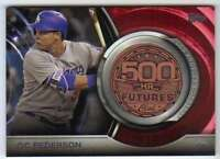 2016 Topps Update 500 Home Run Club Medallions #500M-19 Joc Pederson Dodgers