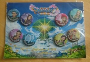 Dragon Quest XI - Set of 8 Promotional Badges (2018) - Official -  New & Sealed