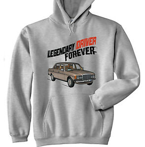 MERCEDES M123 LEGENDARY DRIVER - NEW  GREY HOODIE - ALL SIZES IN STOCK