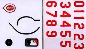 Rawlings Authentic MLB Licensed Batting Helmet Decal Kit - Cincinnati Reds