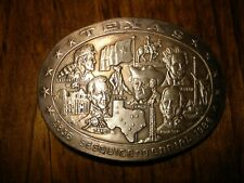 RARE 3 0z STERLING SILVER 1986 **TEXAS SESQUICENTENNIAL** BELT BUCKLE COLONIAL