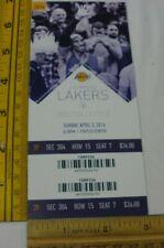Kobe Bryant final season Game ticket Los Angeles Lakers v Boston Celtics 2016 34