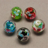 200 pcs Round Handmade Lampwork Beads Mixed Color Jewelry Making 10mm Hole 2mm
