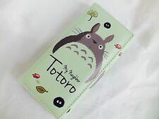 Totoro Billetera Monedero moneda verde para Mujeres Chicas Cremallera titular de la tarjeta de dibujos animados japonés Z4