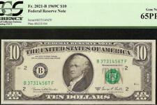 GEM 1969 C $10 DOLLAR BILL FED NOTE CURRENCY PAPER MONEY Fr 2021-B PCGS 65 PPQ