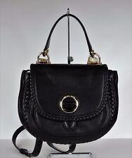New Michael Kors ISADORE Med Top Handle Messenger Bag Pebble Leather black Ring
