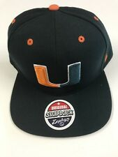 new ZEPHYR University of Miami Hurricanes GREEN Baseball Hat Cap CANES