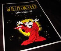 Disneyland 1979 POSTER Magic Nite Walt Disney Mickey Mouse Sorcerers Apprentice