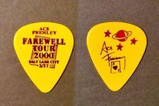 KISS Ace Frehley Farewell purple on yellow guitar pick - Salt Lake City 3/27/00