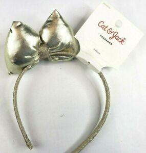 Cat & Jack Girl's Gold Bow Headband