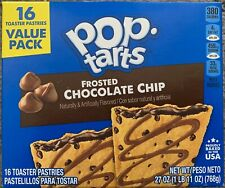 NEW POP TARTS FROSTED CHOCOLATE CHIP 27 OZ 16 TOASTER PASTRIES VALUE PACK BUY IT