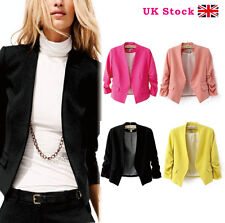 New Womens Ladies Candy Colors Stylish Suit Jacket Blazer Size 8 10 12