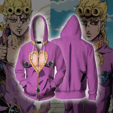 JoJo's Bizarre Adventure Giorno Giovanna Anime Zip Hoodie Jacket Cosplay Costume