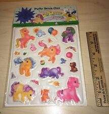 Vintage 1983 My Little Pony Pony Puffy Stickers Stick-ons New Sealed Package 80s