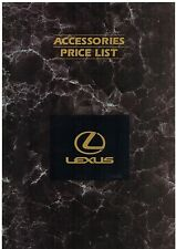 Lexus LS 400 Accessories Price List 1993 UK Market Foldout Brochure
