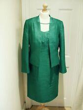 12/14 Jacques Vert Dress Jacket Emerald Green Yolk Top Mother of the Bride suit