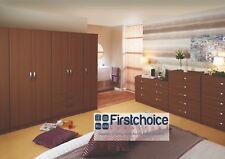 Ready Assembled Catania Walnut Wardrobe Drawers Complete Bedroom Furniture Set